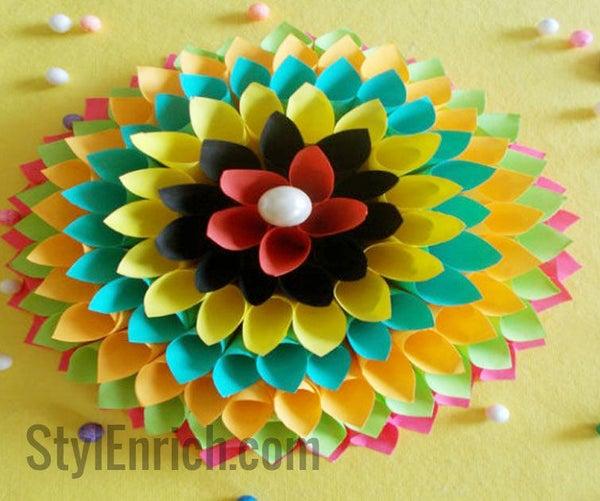 Home Decoration Idea: Paper Floral Craft