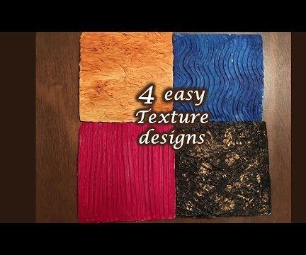 4 Easy Art Texture Designs & Techniques Tutorial -1