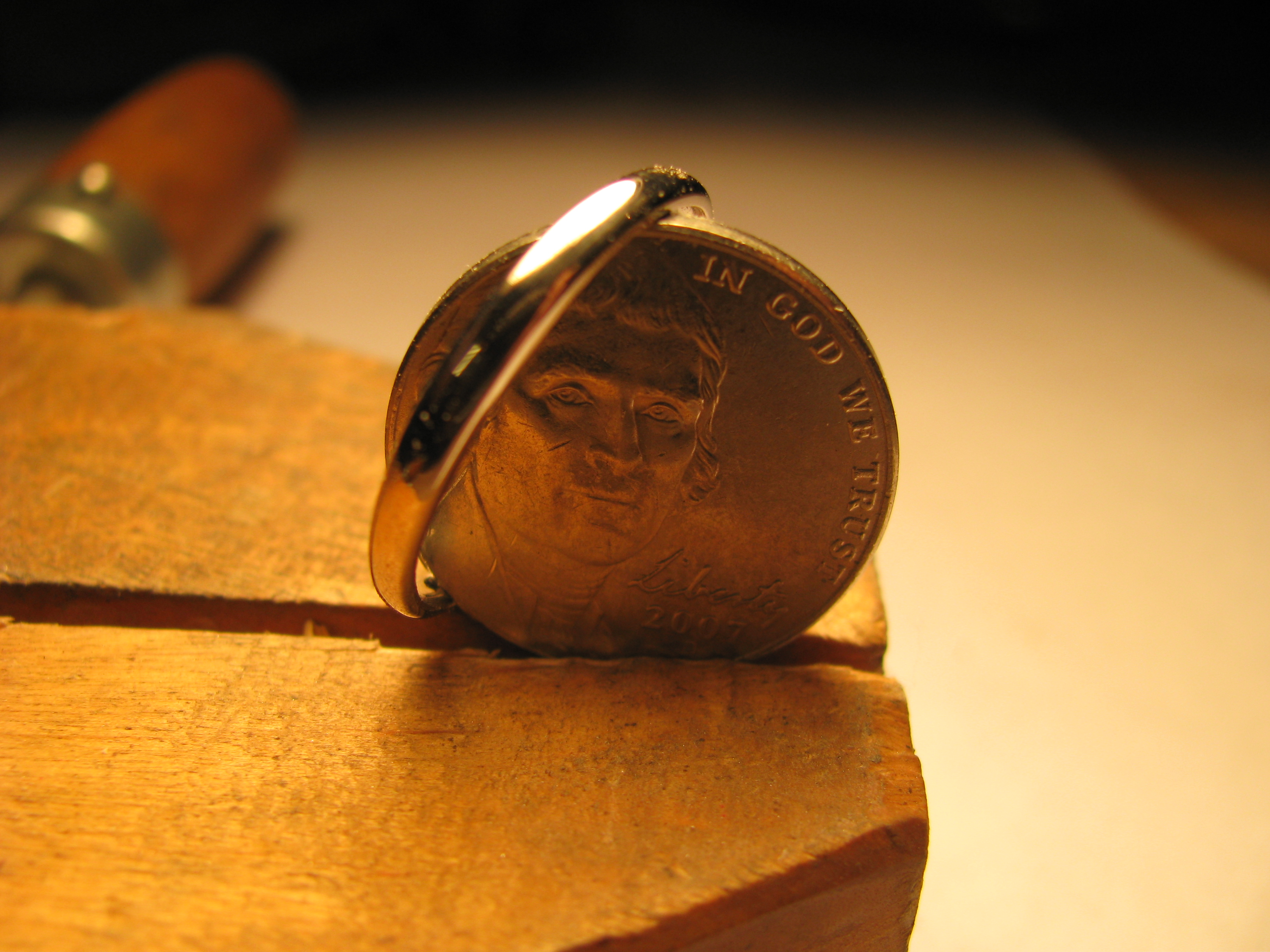 How to make a nickel ring