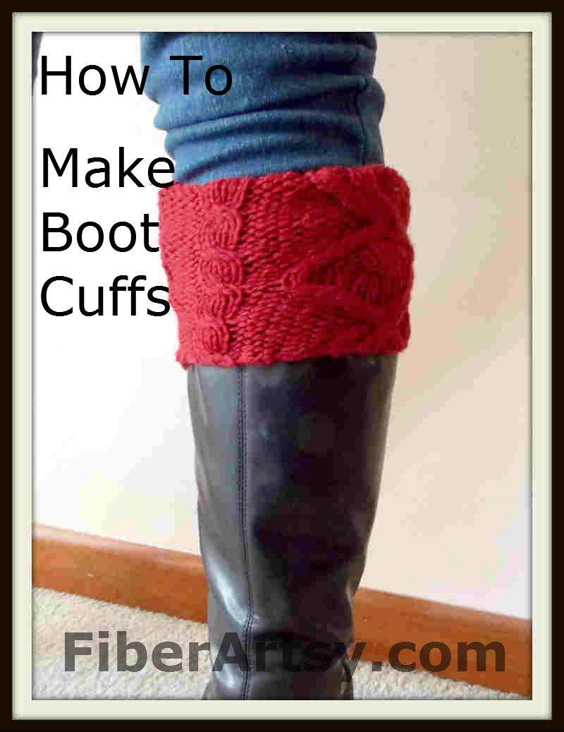 How to make Boot Cuffs from an old Sweater