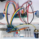 Synchronized 2-Axis Motion With Variable Speed (Arduino + LEDs + 28BYJ-48)
