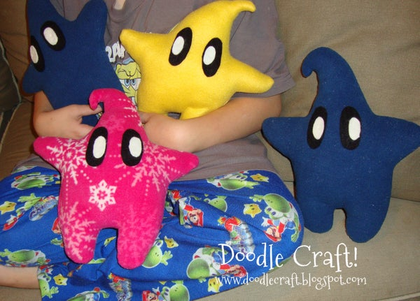 Mario Brother Inspired LUMA Pillows!  Easy Gift for Kids to Give!