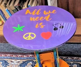 Resin Peace End Table