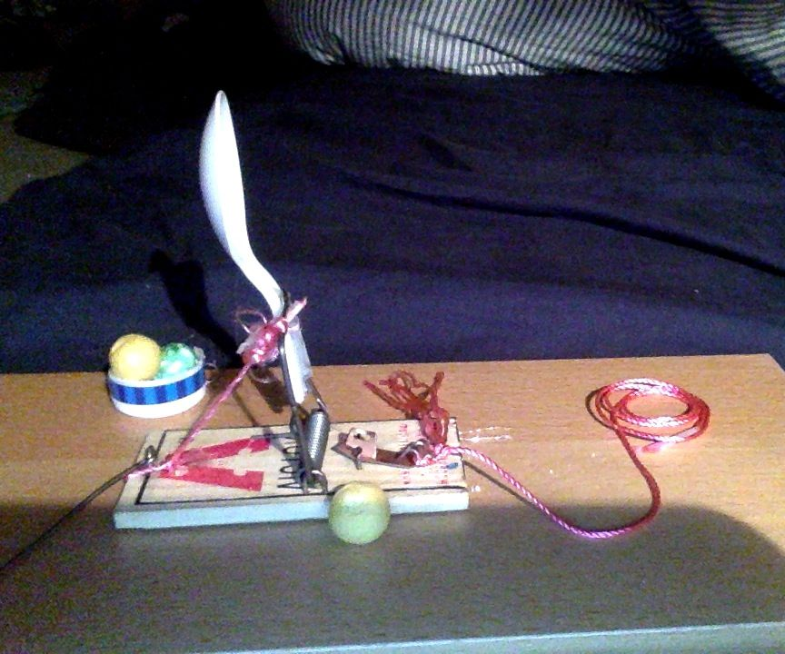 Mouse trap catapult  for 4$