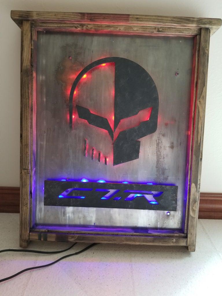 3D - LED Garage Art