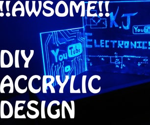 """""""Acrylic"""" Name With RGB Led !!AMEZING!!"""