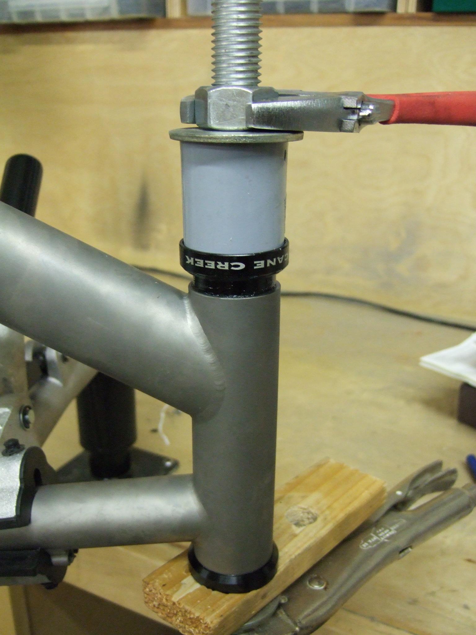 How to make a bike headset press & install a headset