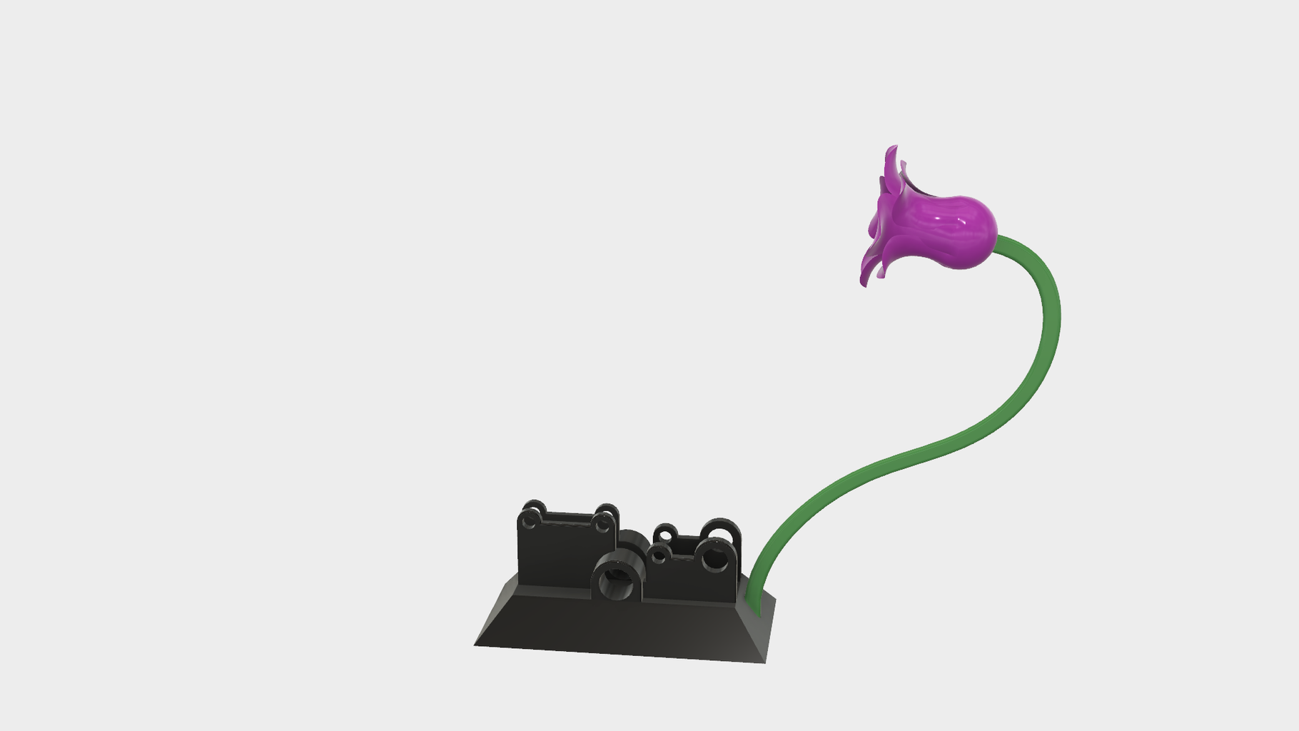Attach the Stem and Flower to the Base