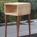 End Grain Plywood End Table With Laminated Legs