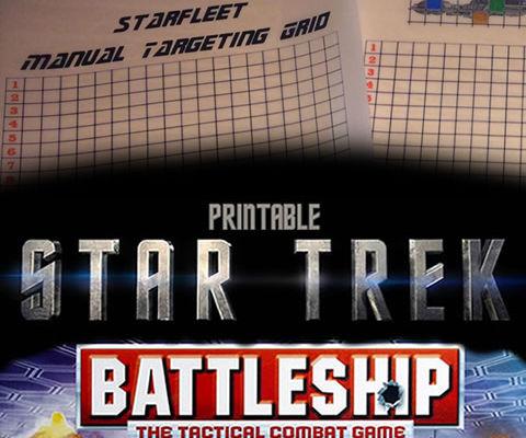 Star Trek Battleship Tactical Combat Game (Paper based)
