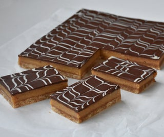 Marbled Chocolate Caramel Shortbread