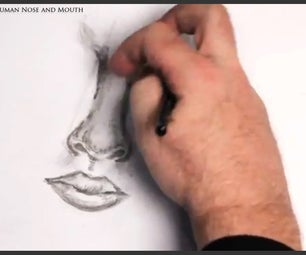 How to Draw a Human Nose and Mouth