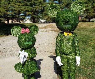 Mickey & Minnie Topiary