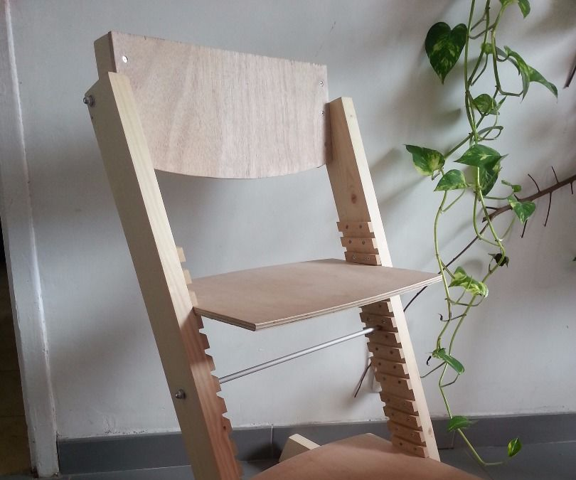 Adaptive wood chair