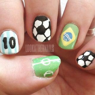 Brazilian Flag Nail Art Tutorial