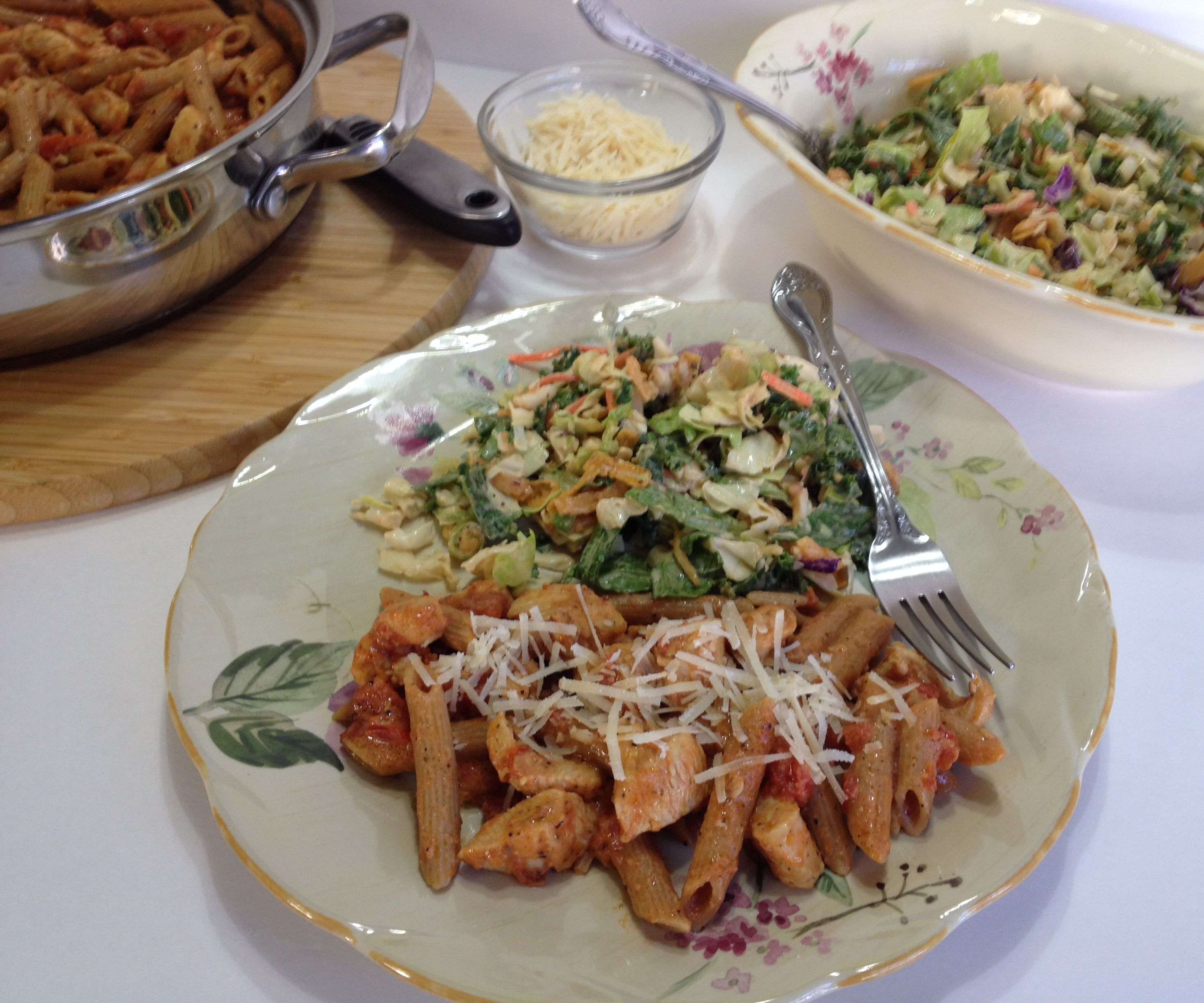 Herb and Chicken Penne with Creamy Italian Cheese