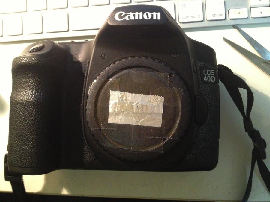 Dirt Cheap Pinhole Lens for DSLR