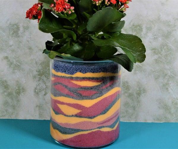 Sand Art in a Flower Pot