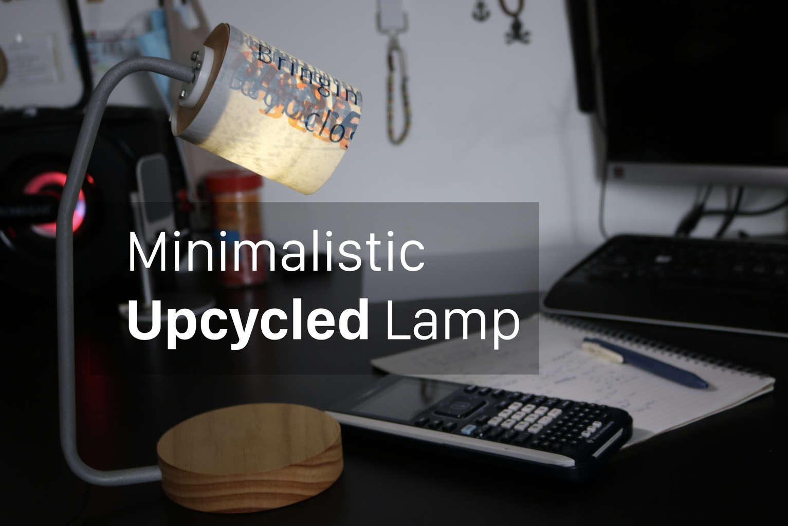 Upcycled Desk Lamp
