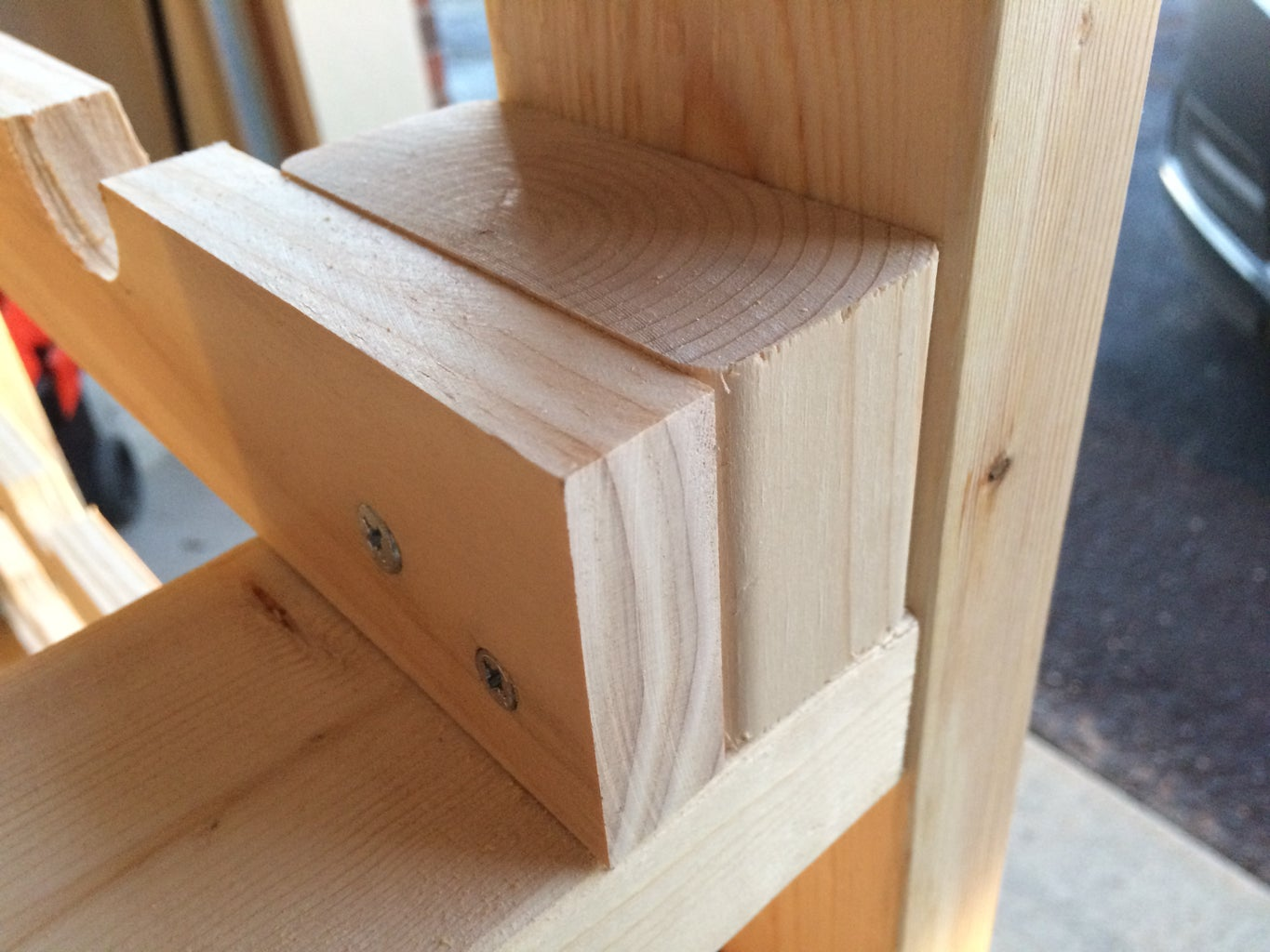 Cut Spacers for the Front Neck Shelves