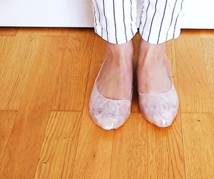 DIY:SHOES FOR MONSOON USING STICKY TAPE.