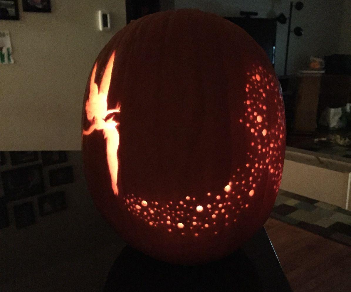 Tinkerbell Pumpkin carving