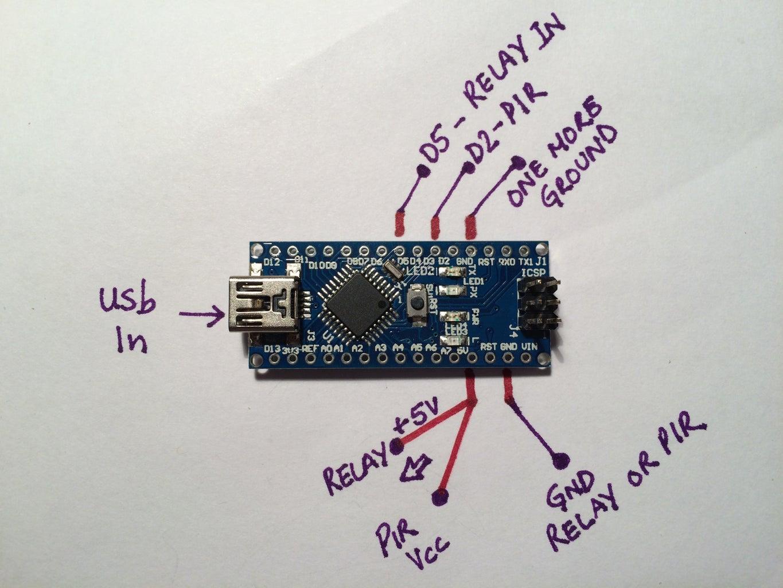Wiring PIR to Arduino Board