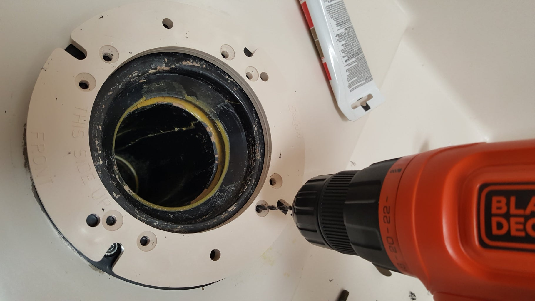 Drill Pilot Holes for Adapter