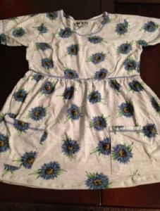 Blue Sunflower Dolly Dress