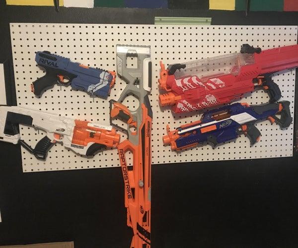 Quick and Easy Nerf Blaster Rack