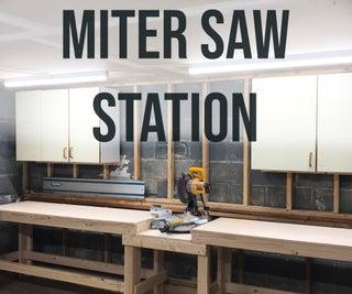 Quick & Easy DIY Miter Saw Station