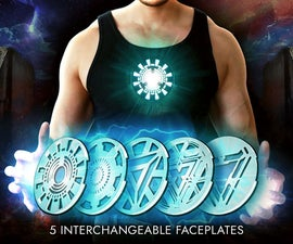 Iron Man Wearable Arc Reactor (3D Printed) 5 Designs