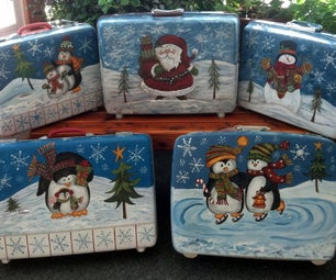 DIY Holiday Storage Container From Suitcases