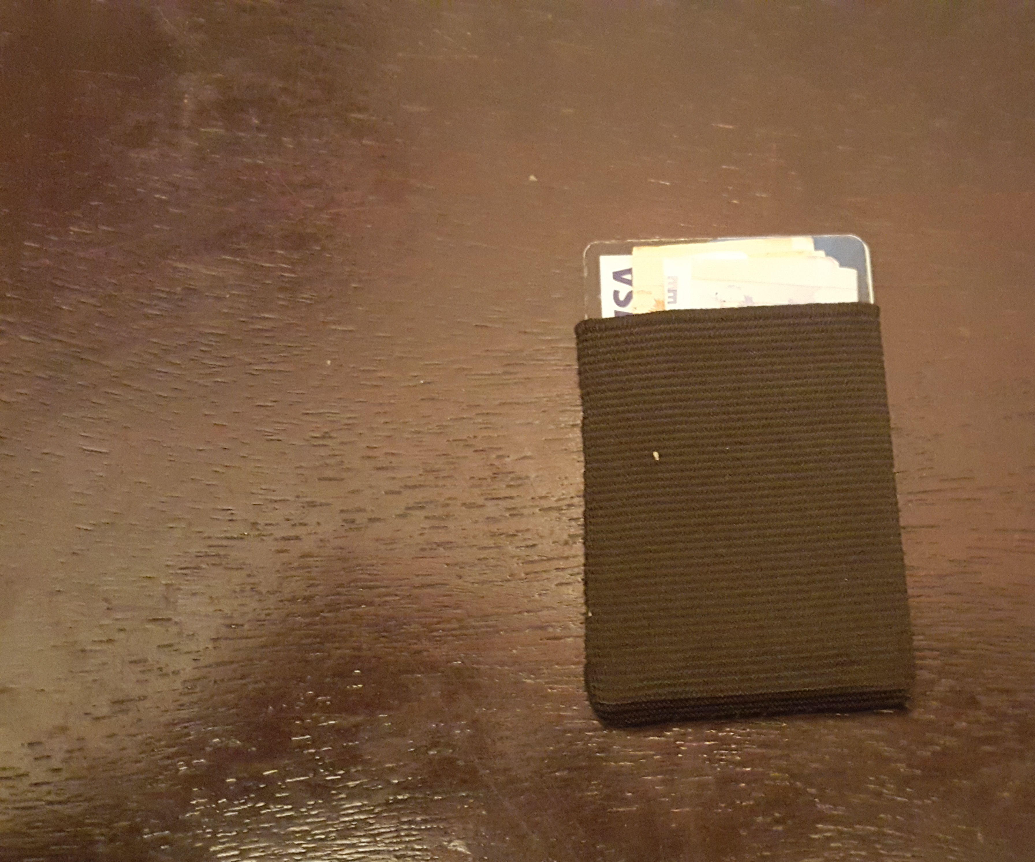 Minimalist Lightweight Elastic Fabric Wallet