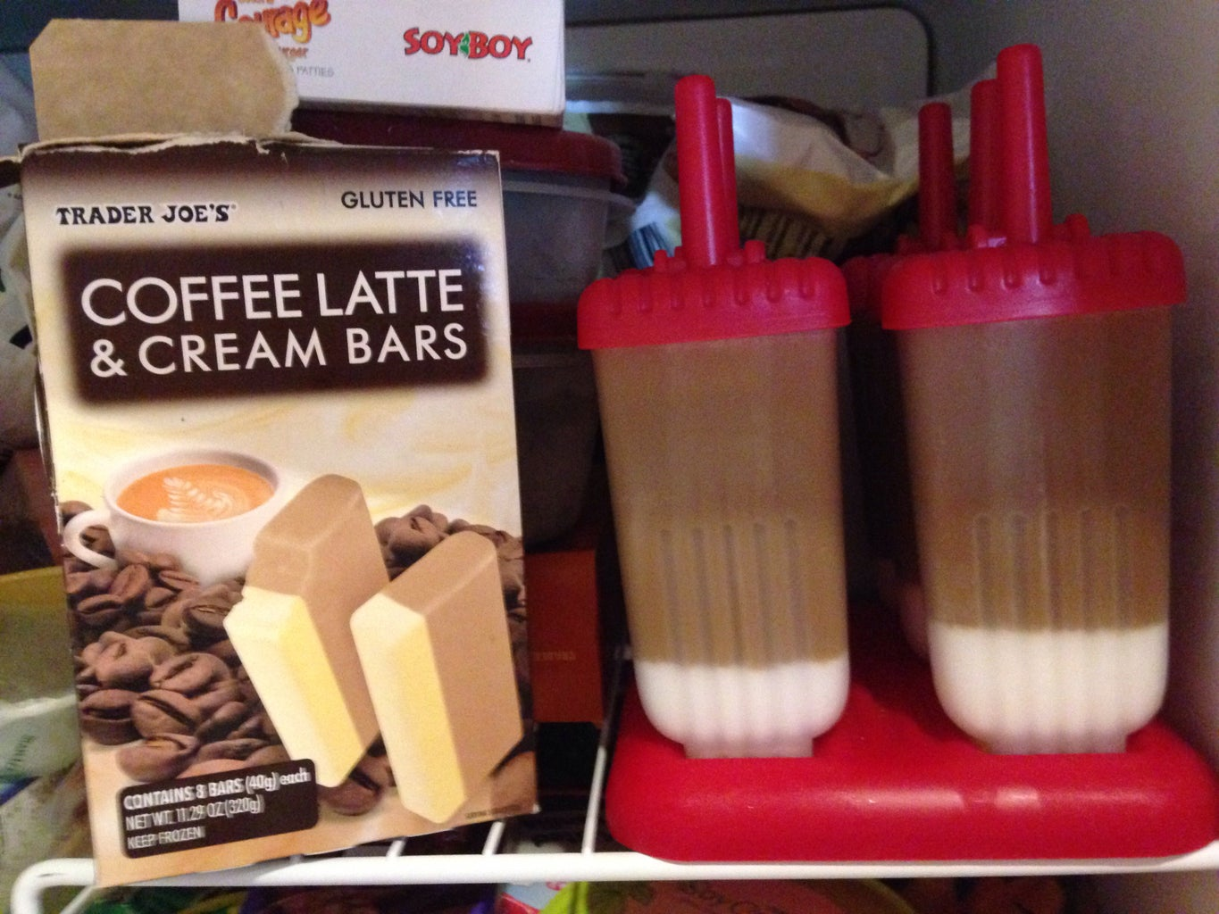 Coffee and Cream Popsicles