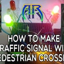 Traffic Light System With Pedestrian Crossing Lights