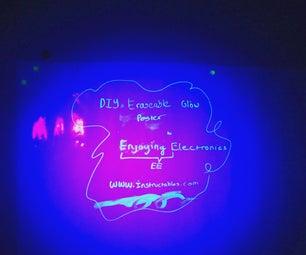DIY UV Erasable Glow Poster