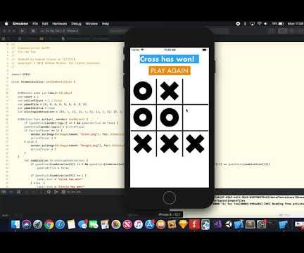 Tic Tac Toe Game Using Swift With Xcode