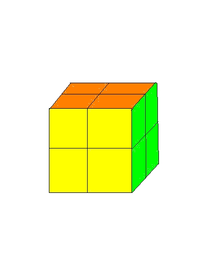 How to solve a rubik's 2 by 2 by 2 cube