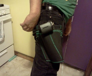 Combat Ready Camera Holster and Wrist Stap From a Laptop Case