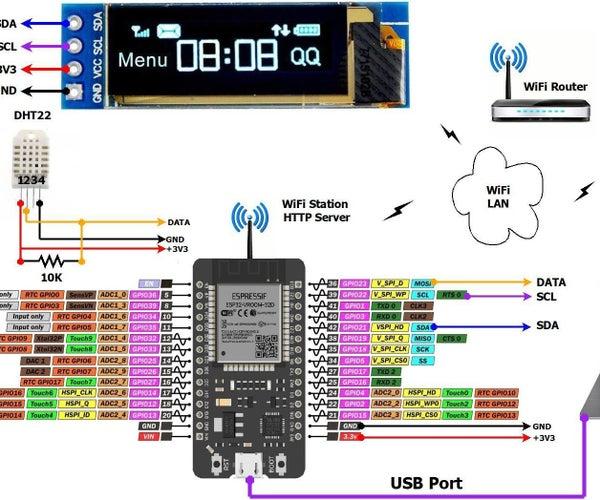 ESP32 – Web Server – DHT22 Temperature – Humidity Monitoring