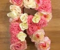 DIY Floral Block Letter - Room Decor