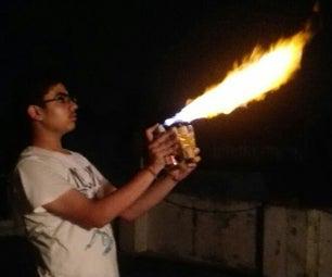 SIMPLE DIY FLAMETHROWER!!!