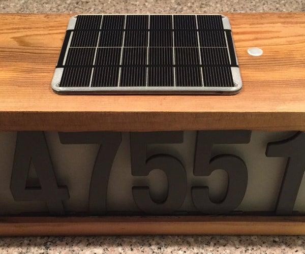 Solar Address Number Sign