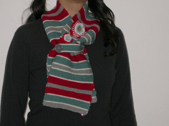Stripey Winter Throat Warmer