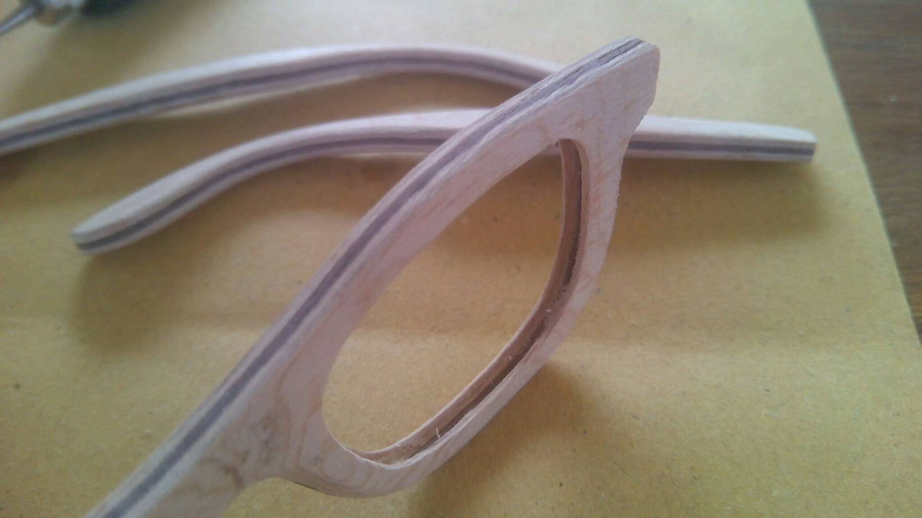 Building the Front of the Glasses