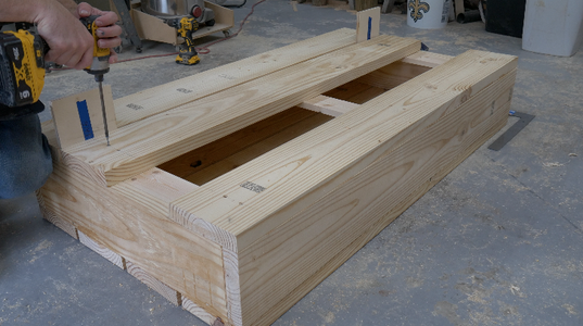 Assemble the Frame for the Lid and Attach the Boards for the Top of the Lid