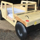 Humvee Toddler Bed With Toy Box