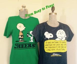Easy Boxy to Foxy T-shirt Transformation