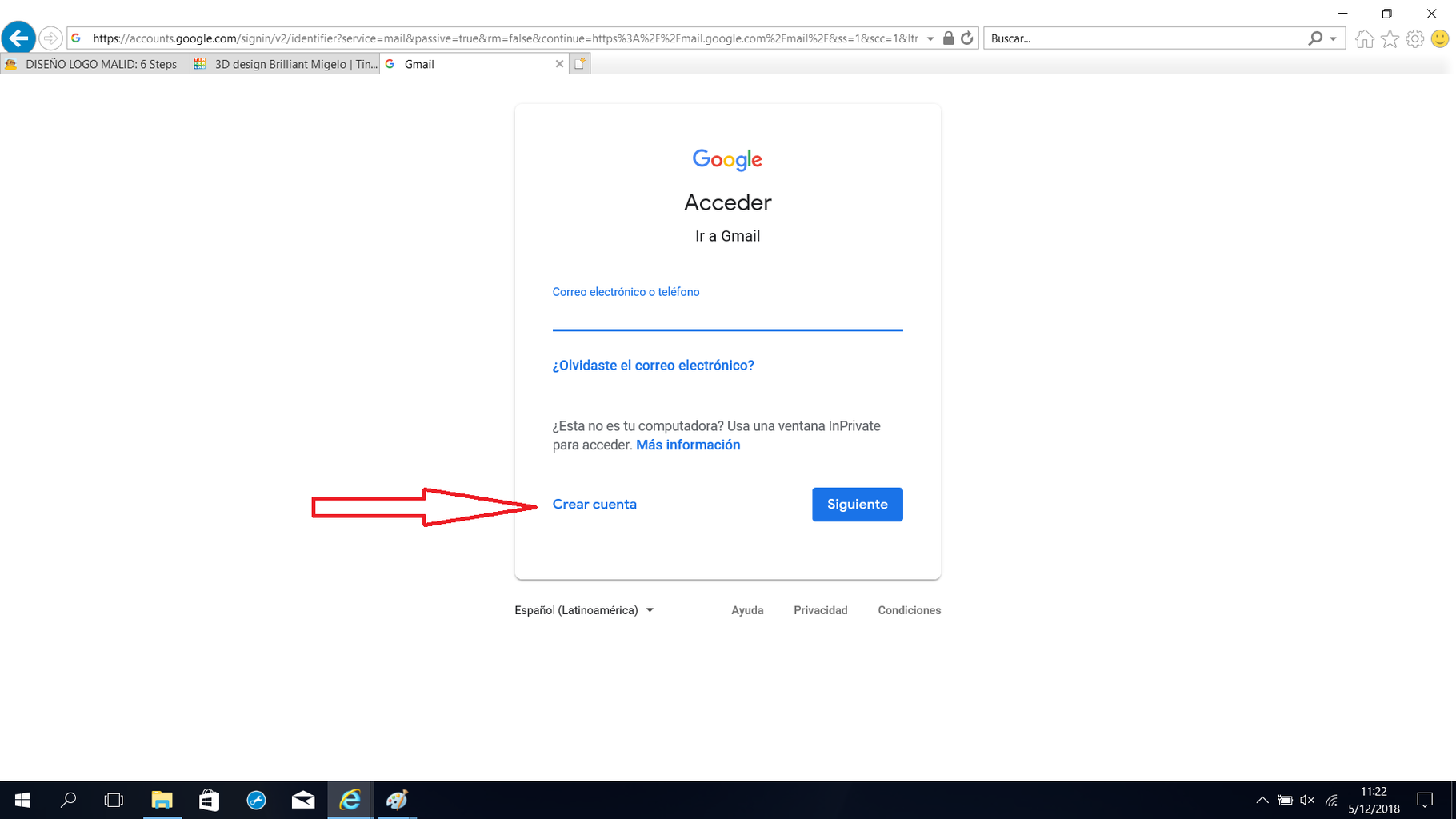 Primer Paso Crear Una Cuenta De Google
